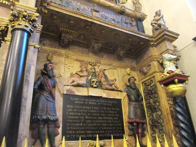 A close up of Sutton's tomb. And, yes, the dude centre-left really is blowing bubbles.