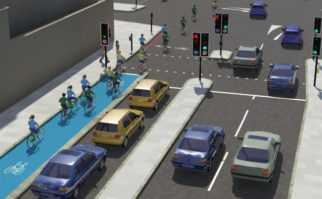 Cycle specific traffic lights proposed for inner CS2.