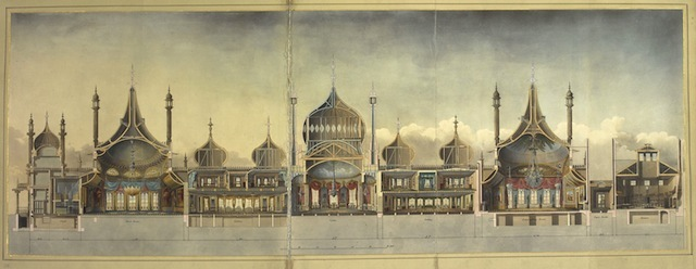 John Nash. The Royal Pavilion at Brighton, 1827. (c) British Library Board