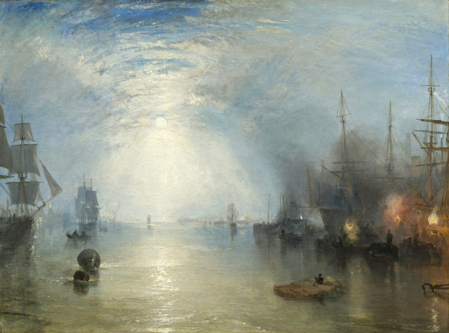 Keelmen heaving in Coal by Moonlight by JMW Turner, 1835, oil on canvas © National Gallery of Art, Washington