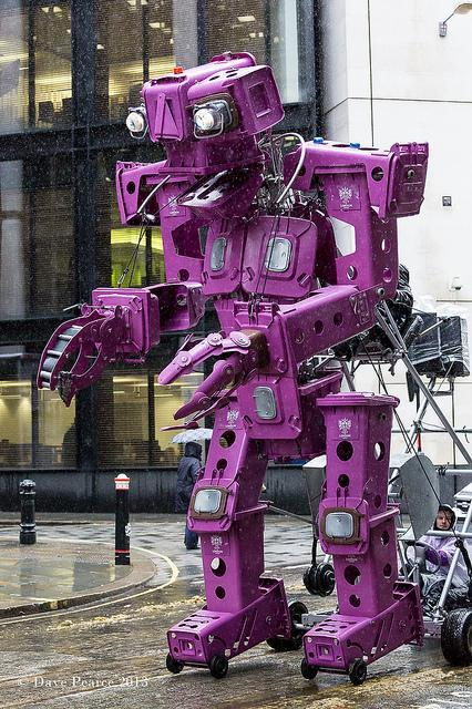 We at Londonist welcome our purple robot overlords. Photo by Dave Pearce