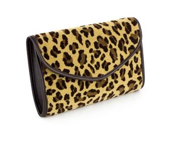 Midland Red Leopard Print Moquette Chevron Clutch Bag £97.50