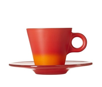 Colour Changing Espresso Cup & Saucer - Red £13.95