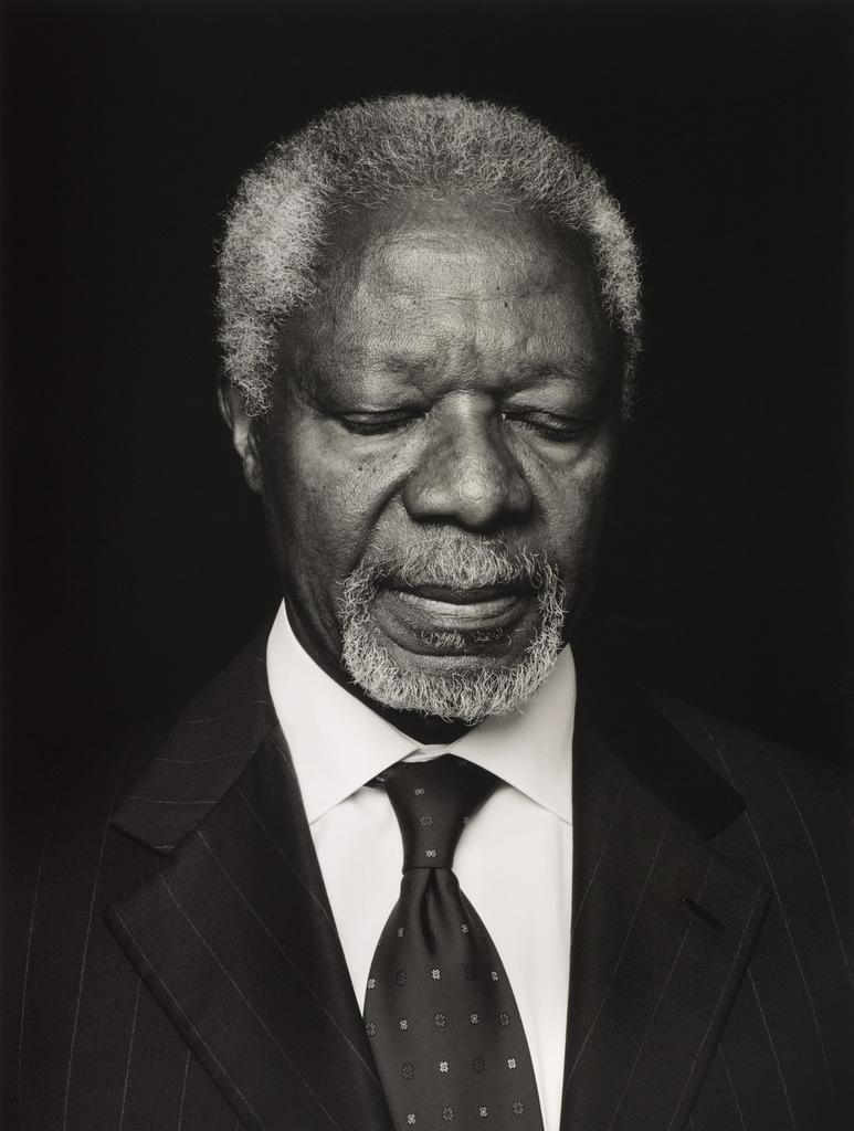 Kofi Annan by Anoush Abrar, 2013. Copyright Anoush Abrar