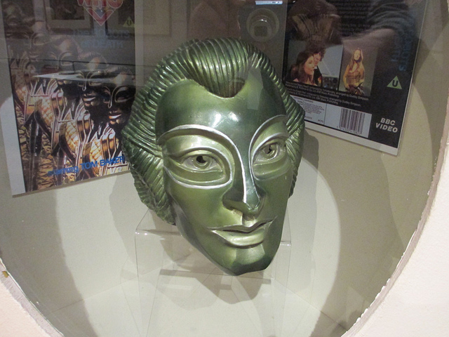 One of the original masks from Tom Baker episode Robots of Death, held at Gunnersbury Park House museum.