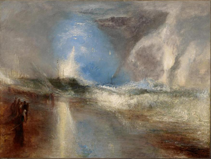 Rockets and Blue Lights (close at Hand) to warn Steam-Boats of Shoal-Water by JMW Turner, 1840, oil on canvas © Sterling and Francine Clark Art Institute, Williamstown, Massachusetts, USA (photo by Michael Agee)