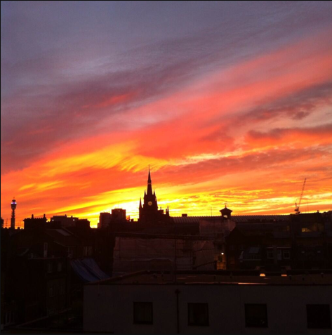 A King's Cross sunset by @thisisnorthstar