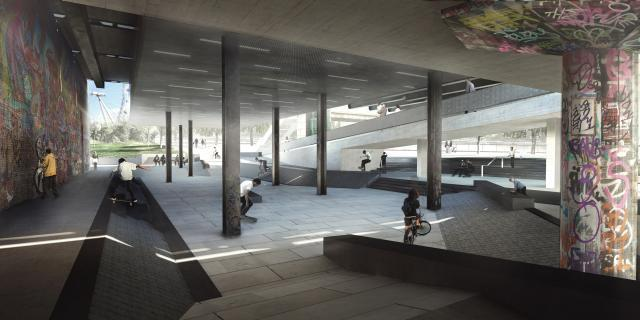 New design for Southbank Centre Skateable Space, by SNE Architects