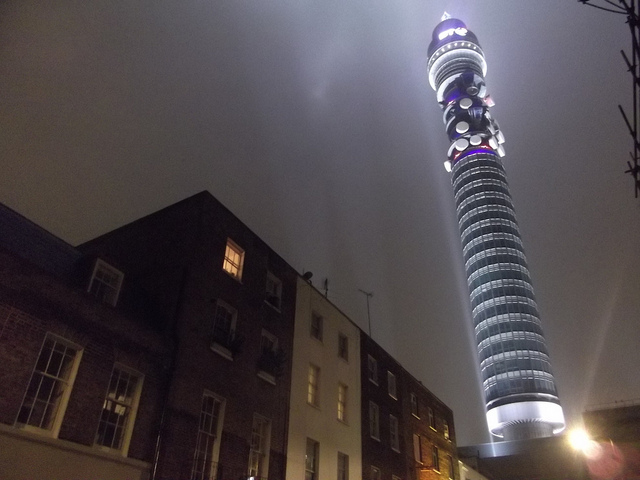 The BT Tower...surely modelled on the sonic screwdriver?