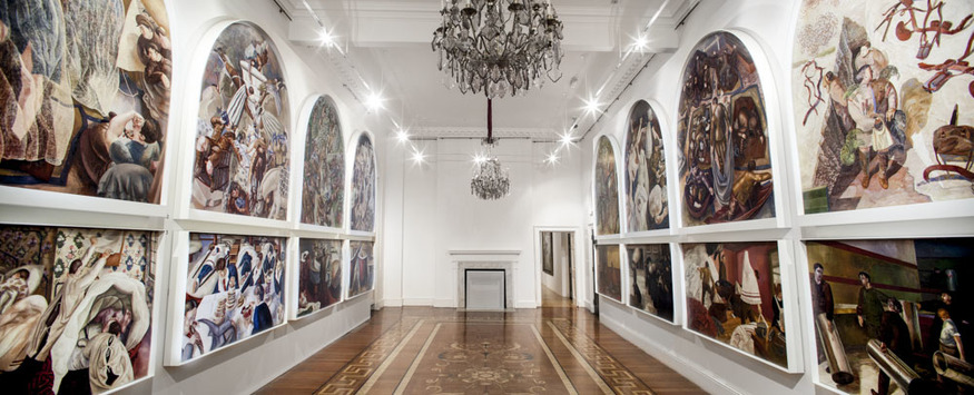 Stanley Spencer. Somerset House, Installation view