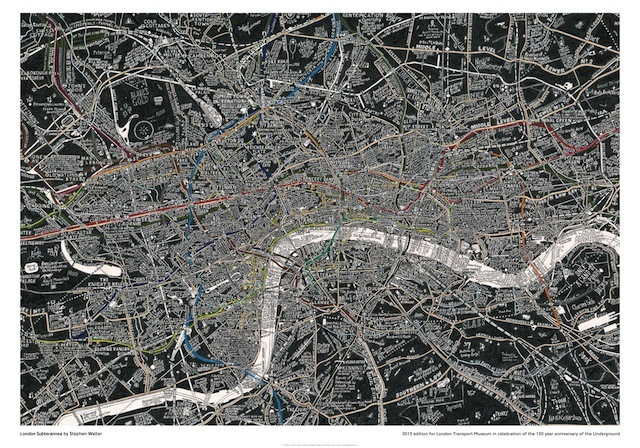 Stephen Walter`s London Subterranea Print £35