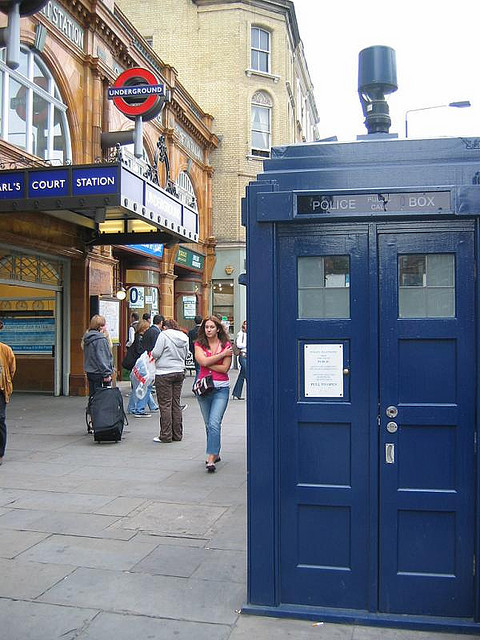 A police call box, looking ever so much like your actual Tardis.
