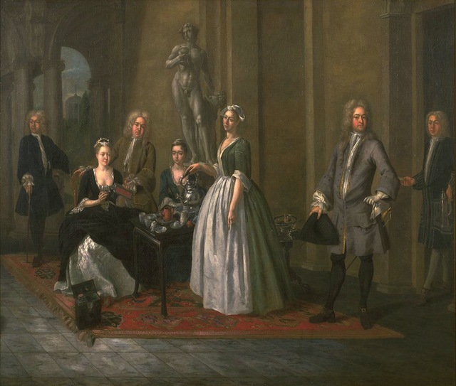 An English Family at Tea circa 1720 Joseph Van Aken circa 1699-1749 Presented by Lionel A. Crichton through the Art Fund 1930 http://www.tate.org.uk/art/work/N04500