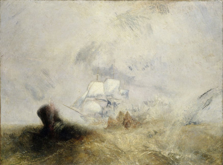 Whalers (also known as The Whale Ship) by JMW Turner, 1845, oil on canvas © Metropolitan Museum of Art