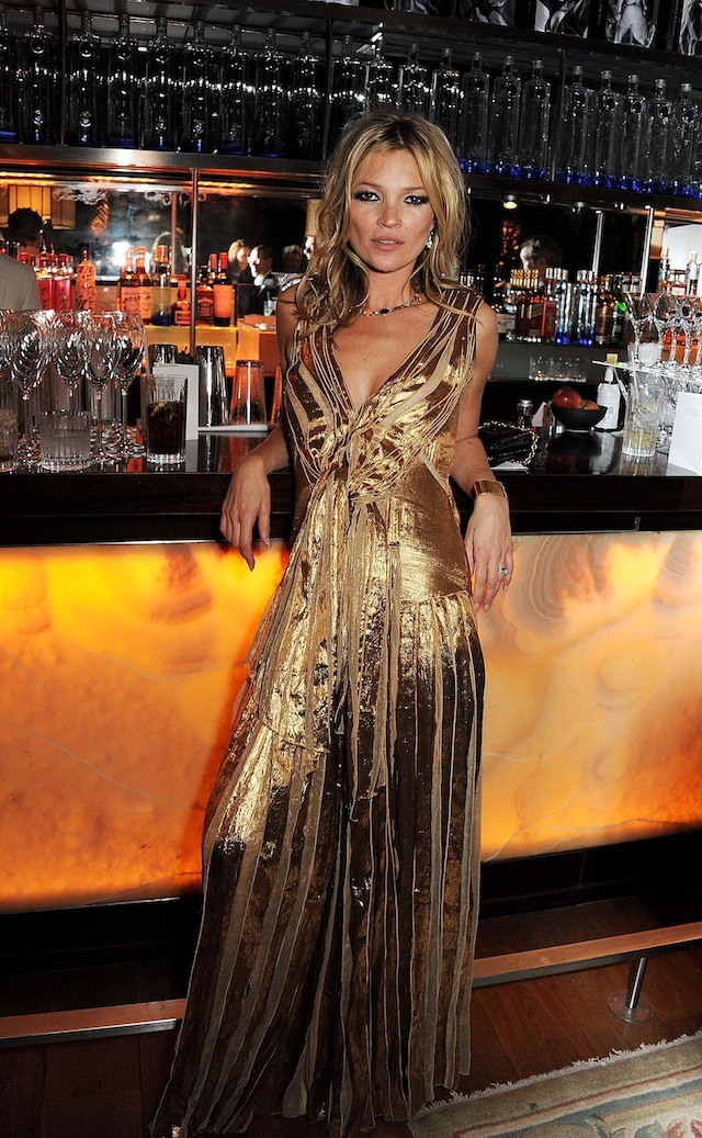 Kate Moss during the launch of 'Kate: The Kate Moss Book' hosted by Marc Jacobs, published by Rizzoli New York and supported by Ciroc Ultra Premium Vodka at 50 St. James on November 15, 2012 in London, England.