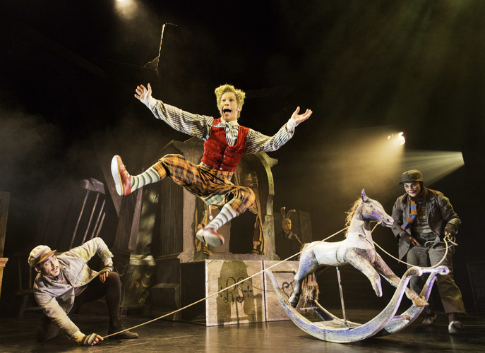 WIND IN THE WILLOWS by Tuckett,        , Choreography and Director - Will Tuckett, Set design - The Quay Brothers, Costumes - Nicky Gillibrand, Lighting - Warren Letton, The Duchess Theatre, 2013, Credit: Johan Persson/