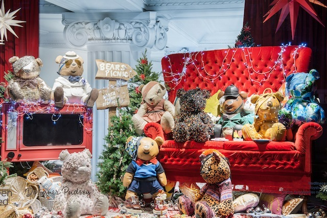 (2012) Last year's whimsical effort was the work of creative director Alannah Weston and photographer Bruce Weber. Oxford Street shoppers were introduced to designer Pudsey Bears...