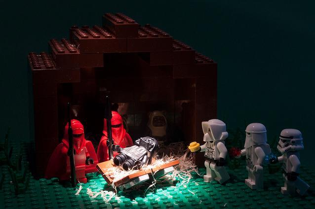 How could we resist a Vader nativity? By Seal Clubber