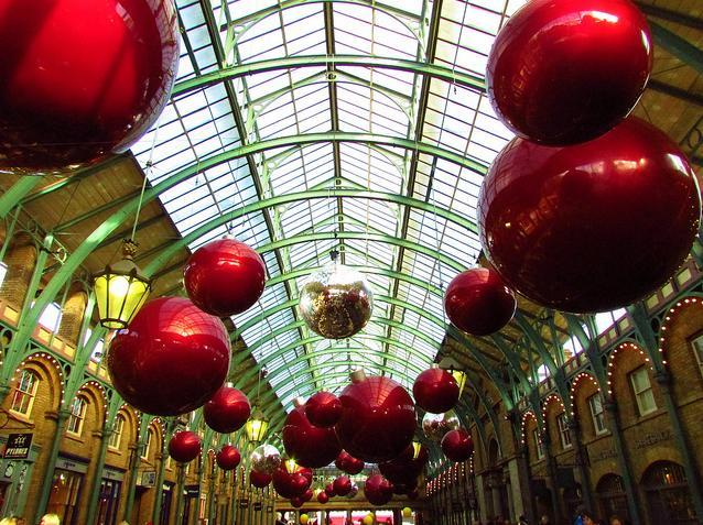 Covent Garden baubles by kathryn wilkins
