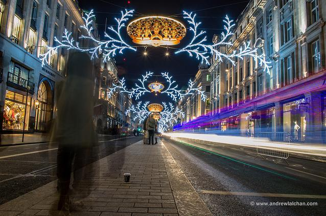 Ghostly Regent Street by Andrew Lalchan