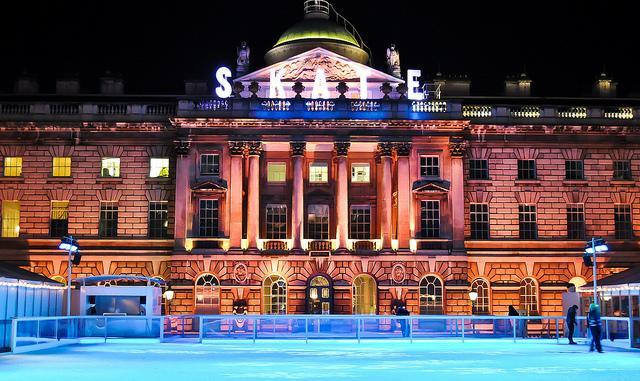 Somerset House ice rink by Kashif Haque