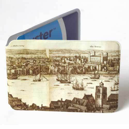 Hollar's map of London Oyster card holder from the British Library