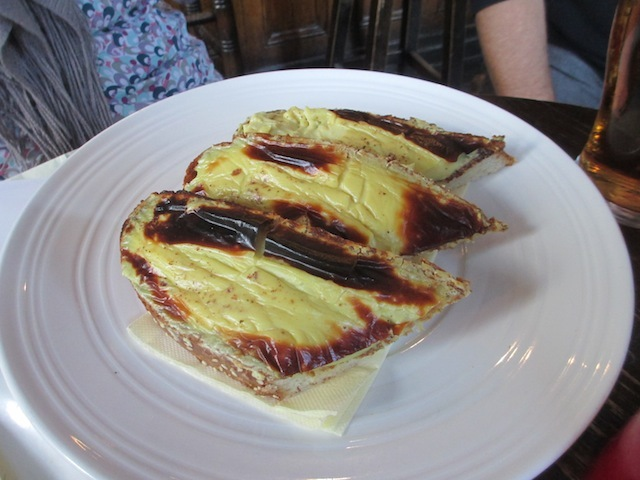 Welsh rarebit. Not the best, if we're being honest.