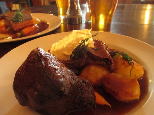 A Sunday beef roast with lashings of mild horseradish.