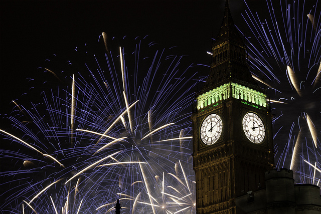 New Year's Eve On South Bank: Fireworks And Fizz