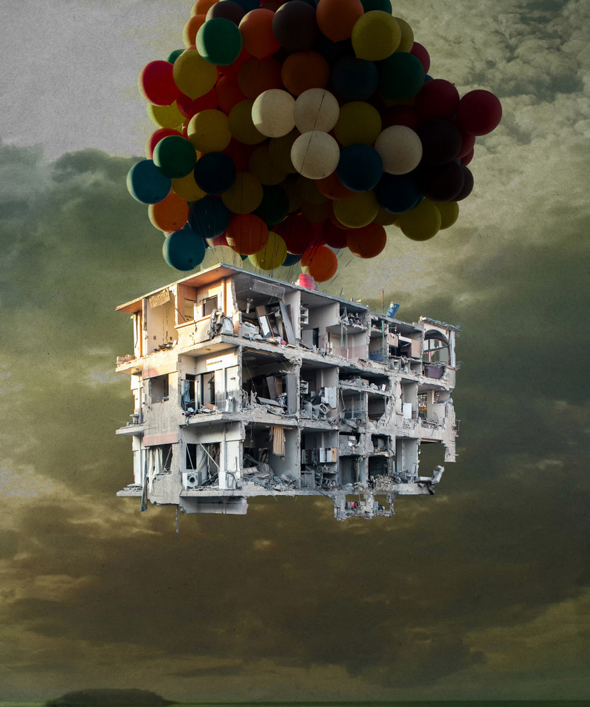 Tammam Azzam, Damascus from Bon Voyage Series, 2013. Courtesy the artist and Ayyam Gallery