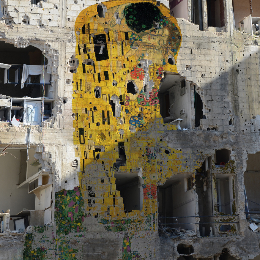 Tammam Azzam, Freedom Graffiti, 2013. Courtesy the artist and Ayyam Gallery