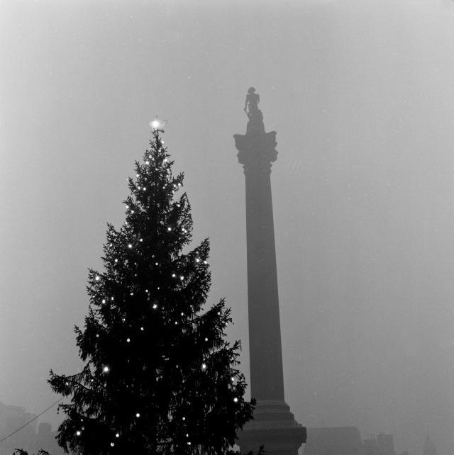 Trafalgar Square, 1955 / © Henry Grant Collection / Museum of London