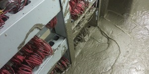 Victoria Line Closed By Concrete And Water Flood