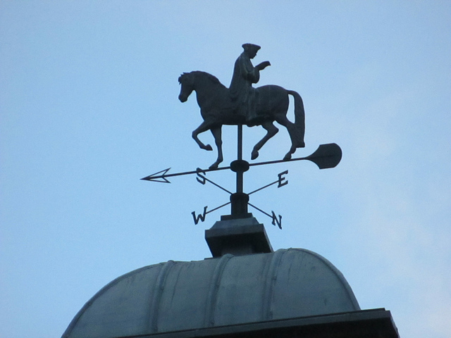 Whitechapel Gallery weather vane by Matt Brown.