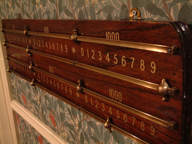 Scoreboard at The Gallery, South Kensington by Bernard Goldbach via Flickr under a Creative Commons licence