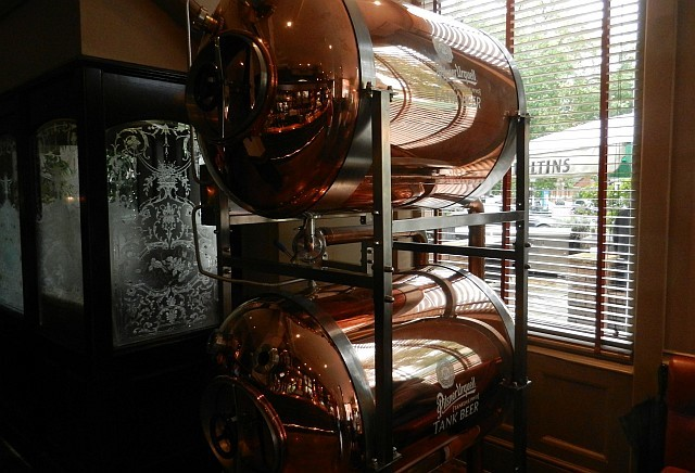 Tanks of unpasteurised Pilsner Urquell at the White Horse.