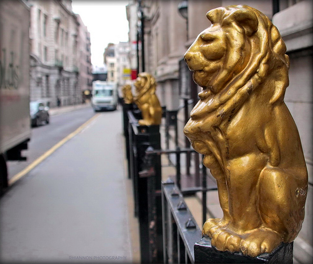 Chancery Lane Lions by Rhiaphotos via flickr