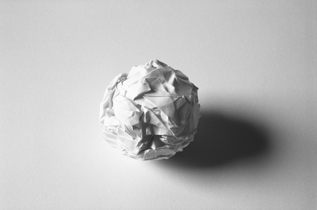 Martin Creed, Work No. 88  A sheet of paper crumpled into a ball, 1995  © the artist, Image courtesy the artist