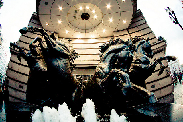 The Four Bronze Horses of Helios in Piccadilly by Rolf F.