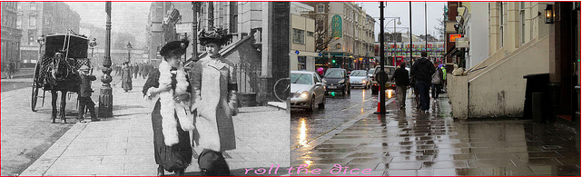 Ladbroke Grove, 1908 and 2013.