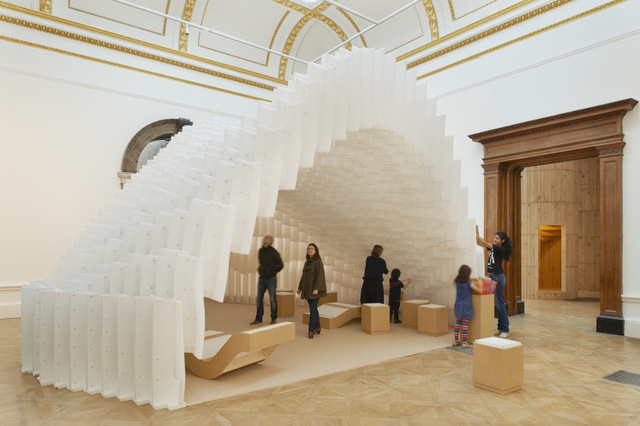 Installation by Diébédo Francis Kéré.    Photo © Royal Academy of Arts, London, 2014. Photography: James Harris / © Kéré Architecture