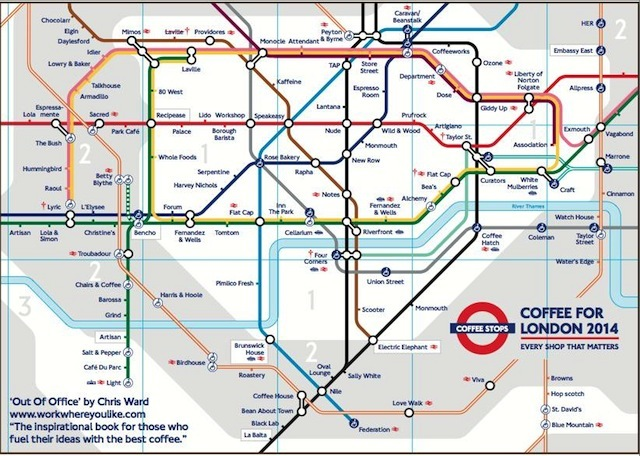 Alternative Tube Maps: Coffee Shops