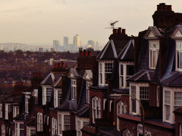 Muswell Hill towards Canary Wharf