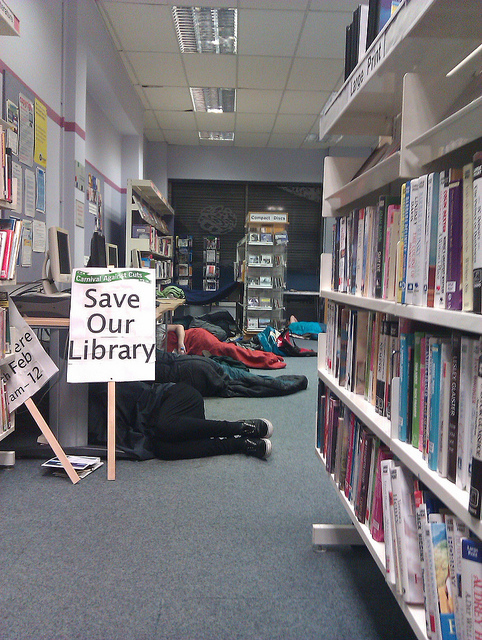 New Cross Library Occupation by Robin Bray-Hurren