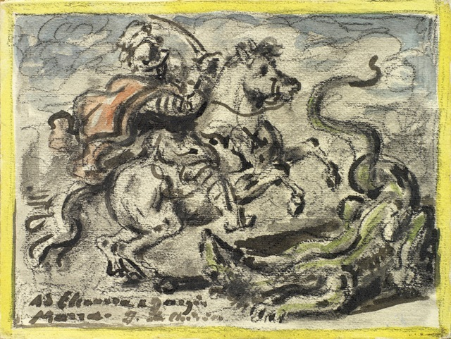 Giorgio de Chirico (1888-1978) St George and the Dragon, 1950s Private collection. Courtesy Galleria d'Arte Maggiore, Bologna (Italy)