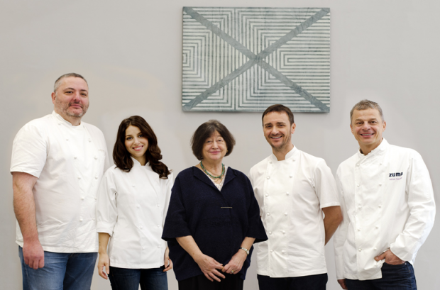 Food 4 Art: Curator Fay Maschler with Richard Corrigan, Florence Knight, Jason Atherton & Rainer Becker by Victoria Birkinshaw