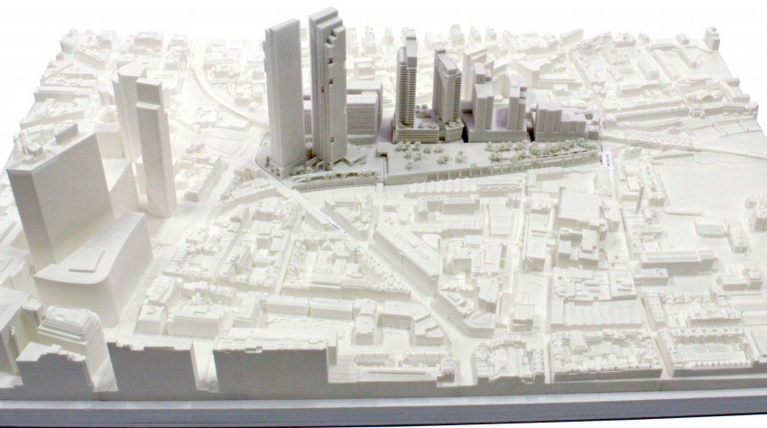 A possible massing model for The Goodsyard.