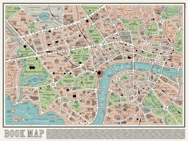 Map Over London.A Beautiful Book Map Based On London Londonist