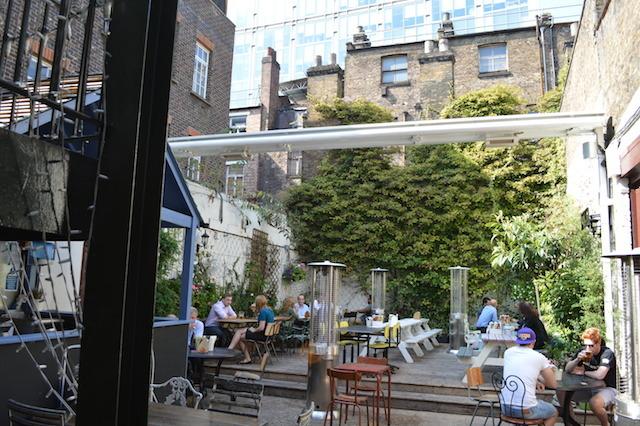 Decent sized beer garden.