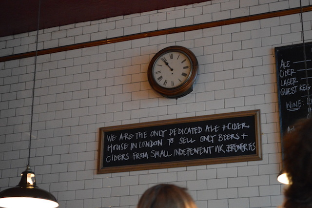 A fine policy. Not so sure about the clock, permanently set to 'it's almost closing time'.